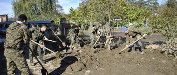 Помощь в ликвидации последствий ЧС в Апшеронском районе